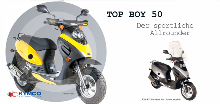 motorrad menge impressionen kymco roller die modelle 2003 kymco top boy 50. Black Bedroom Furniture Sets. Home Design Ideas