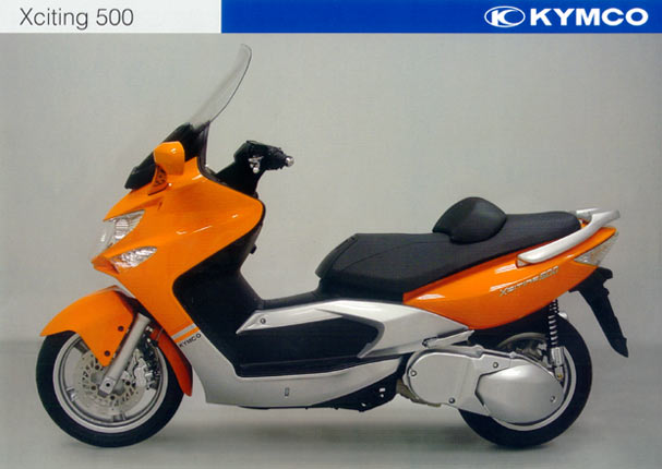 motorrad menge impressionen kymco roller die modelle 2004 kymco xciting 500 orange. Black Bedroom Furniture Sets. Home Design Ideas